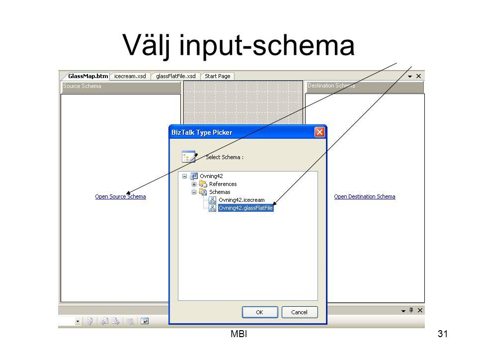 MBl31 Välj input-schema