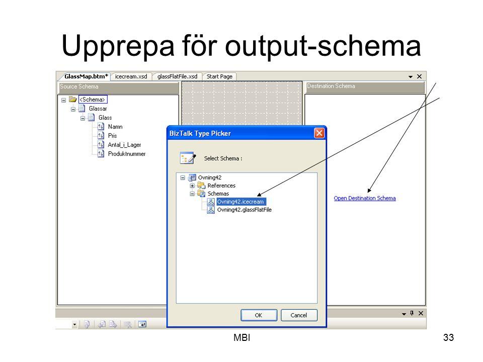 MBl33 Upprepa för output-schema
