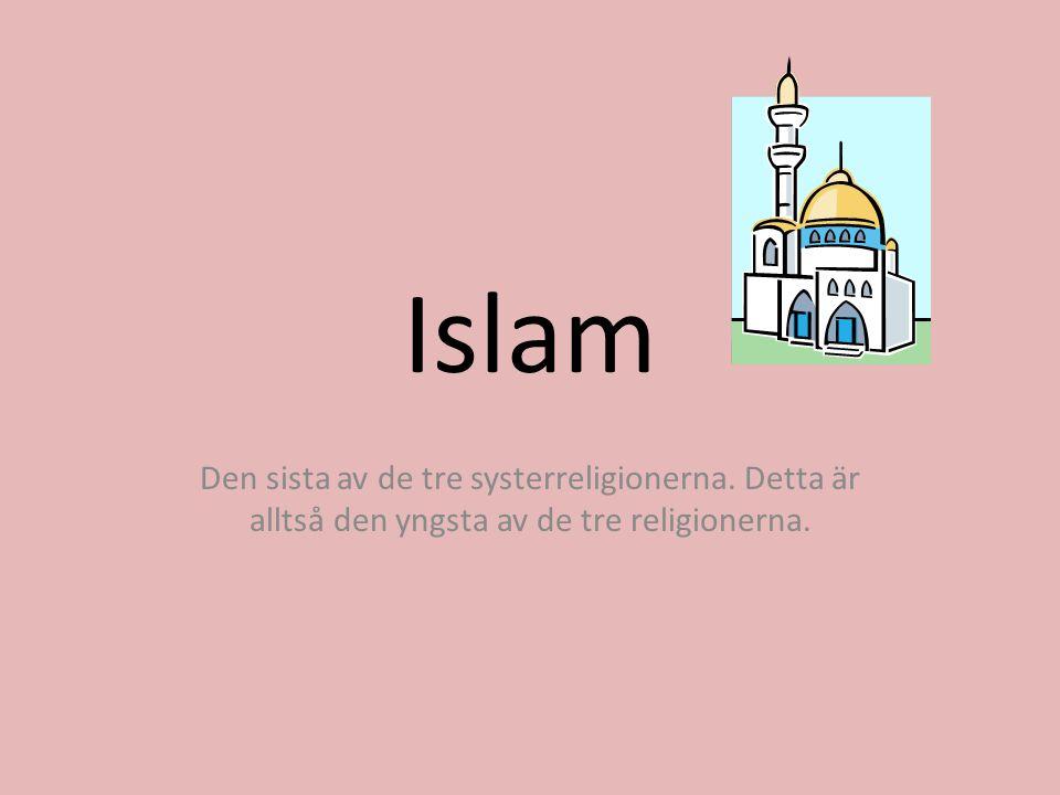 Islams grundtankar Enligt religionen islam så finns det bara en Gud som är större än allt annat.