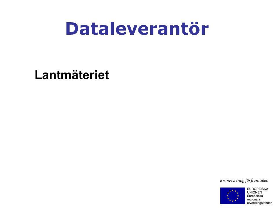 Dataleverantör Lantmäteriet