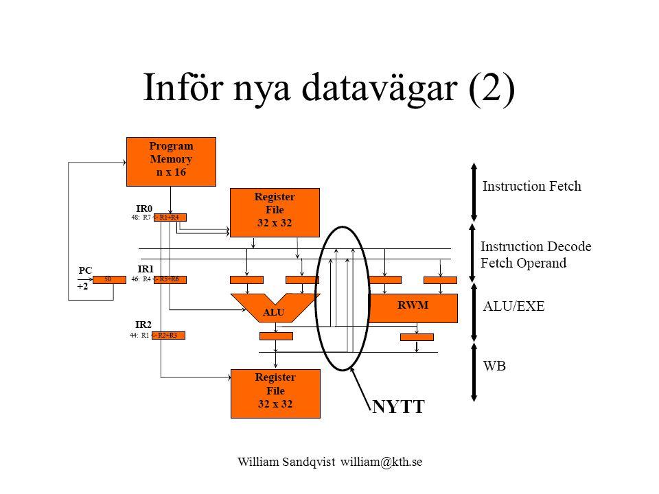 William Sandqvist william@kth.se Inför nya datavägar (2)