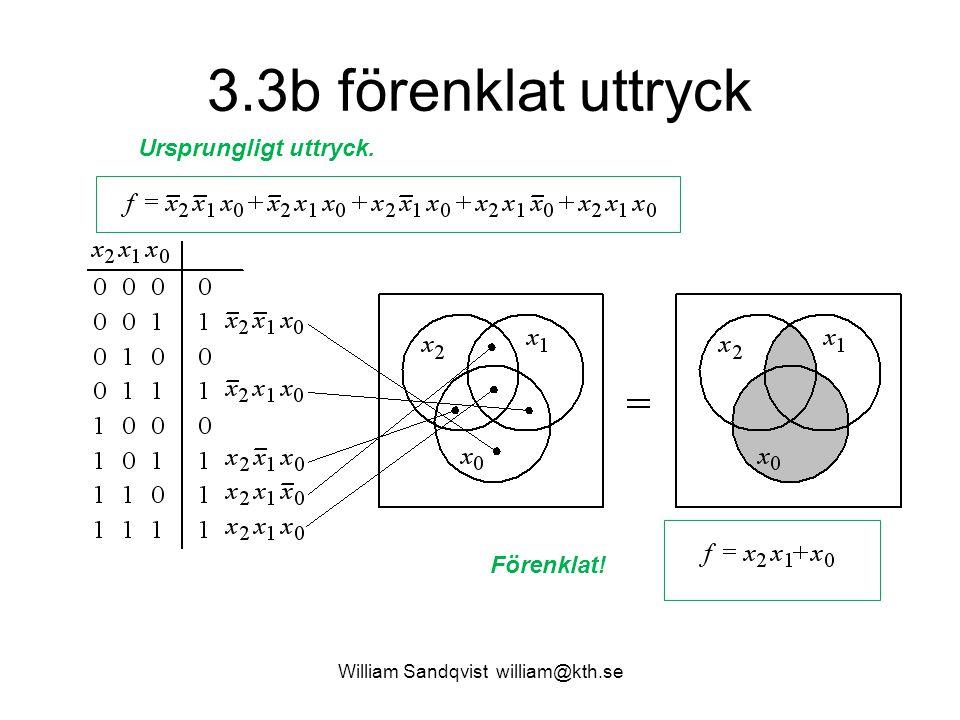 3.3b förenklat uttryck William Sandqvist william@kth.se Förenklat! Ursprungligt uttryck.