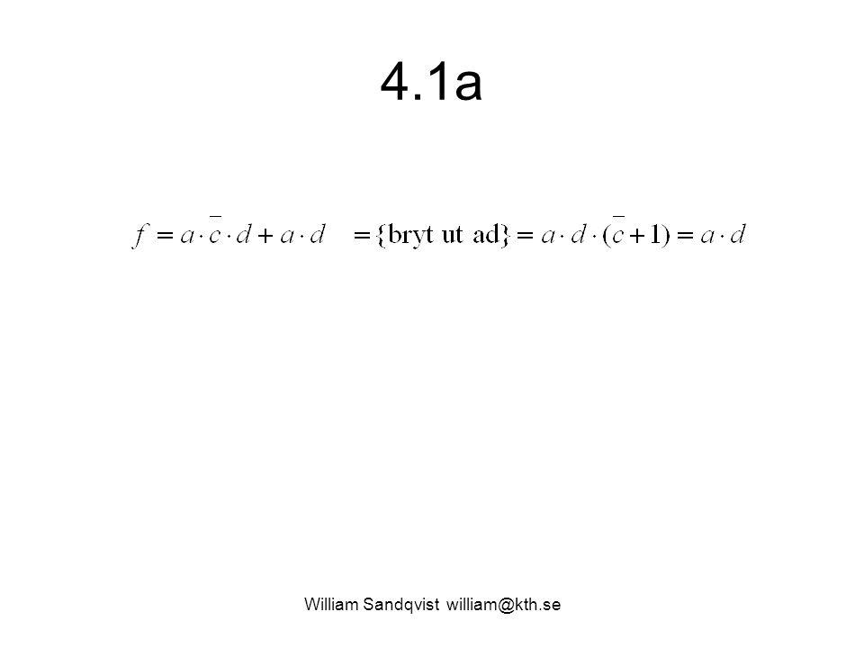 4.1a William Sandqvist william@kth.se