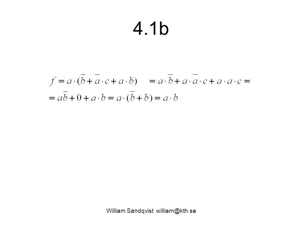 4.1b William Sandqvist william@kth.se