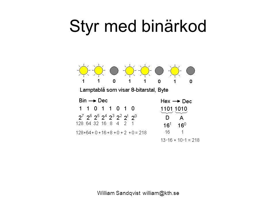 William Sandqvist william@kth.se Styr med binärkod