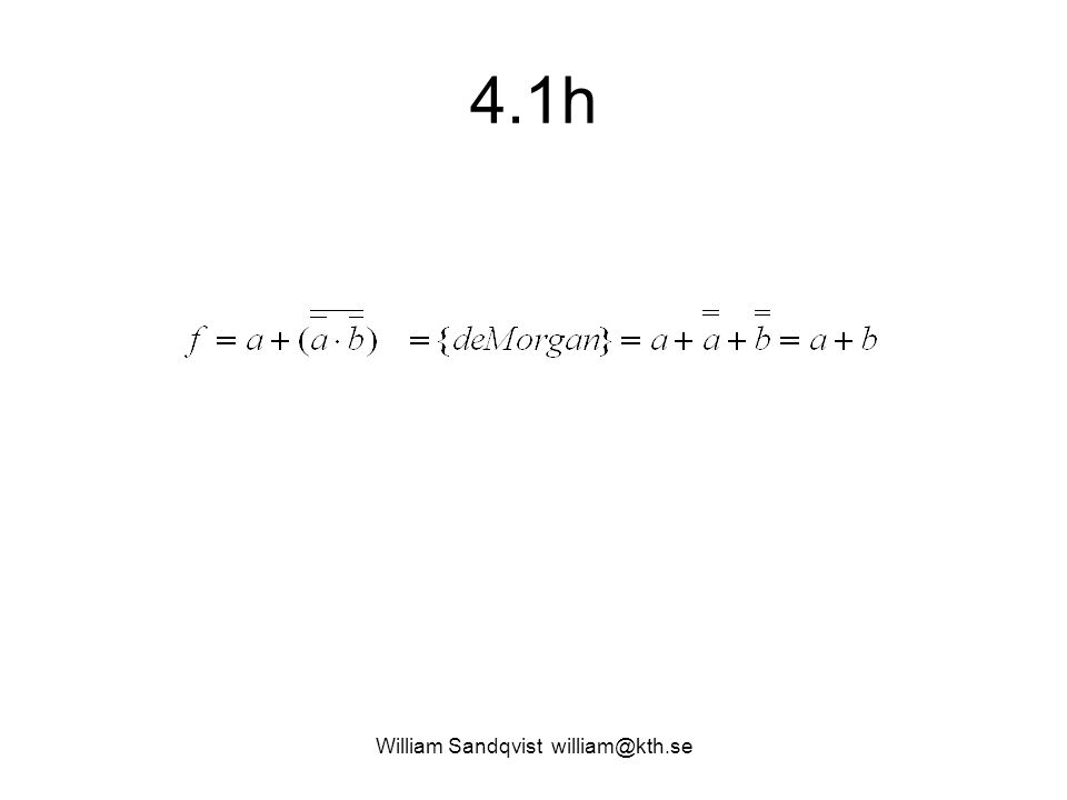 4.1h William Sandqvist william@kth.se