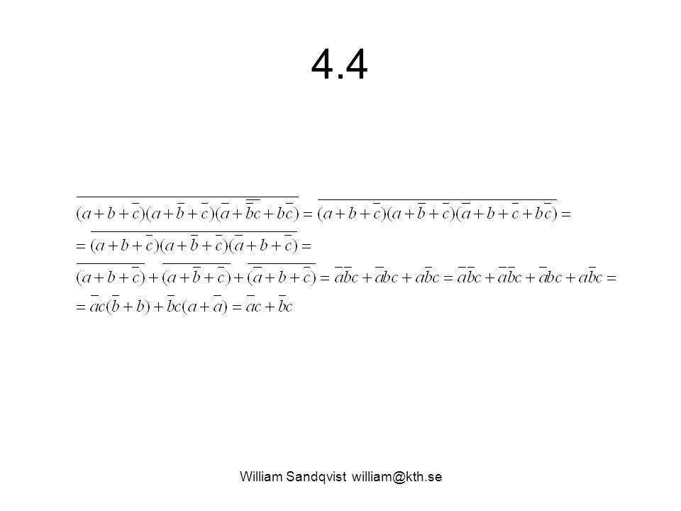 4.4 William Sandqvist william@kth.se
