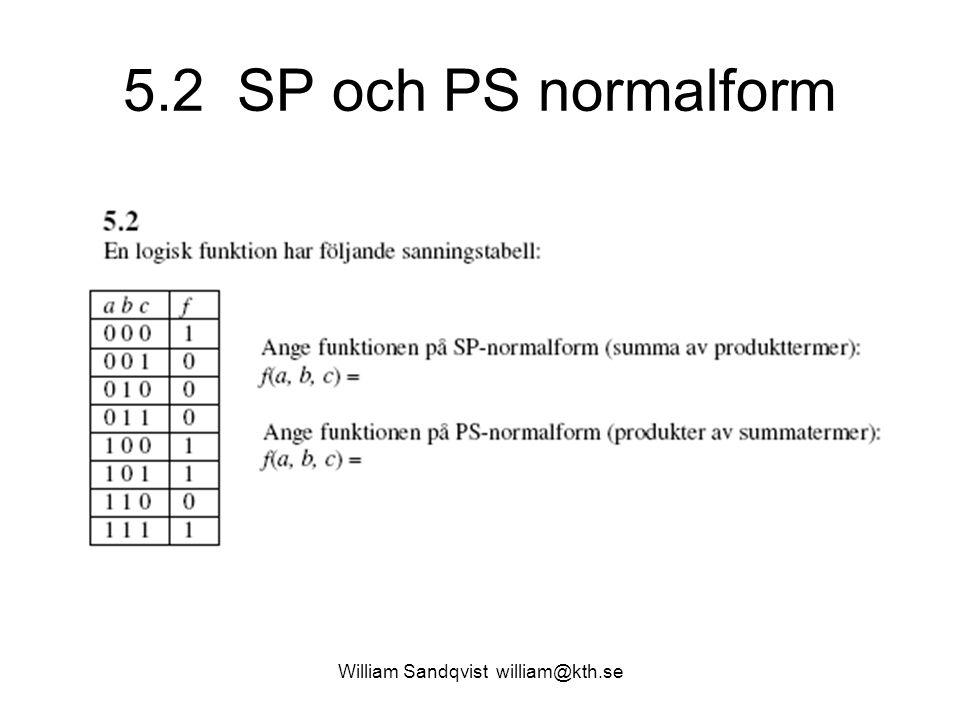 5.2 SP och PS normalform William Sandqvist william@kth.se