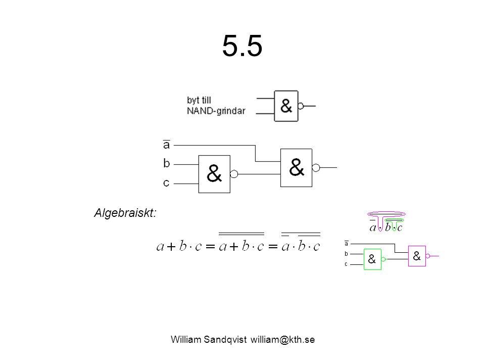 5.5 William Sandqvist william@kth.se ? Algebraiskt:
