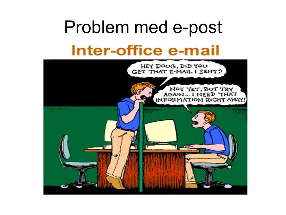 Problem med e-post