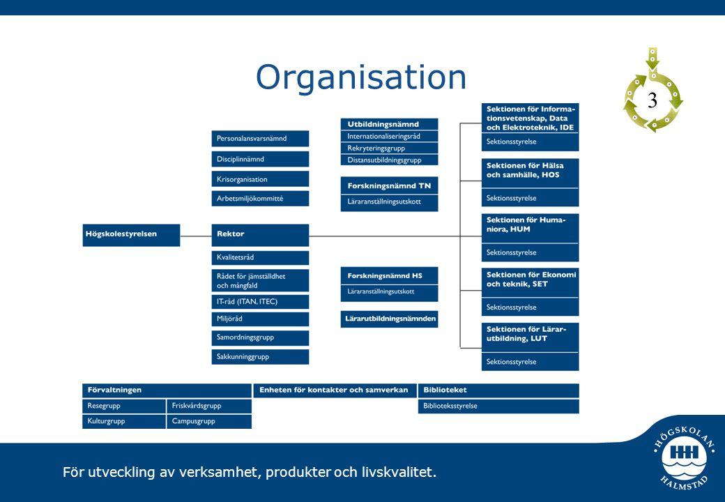 För utveckling av verksamhet, produkter och livskvalitet. Organisation 3