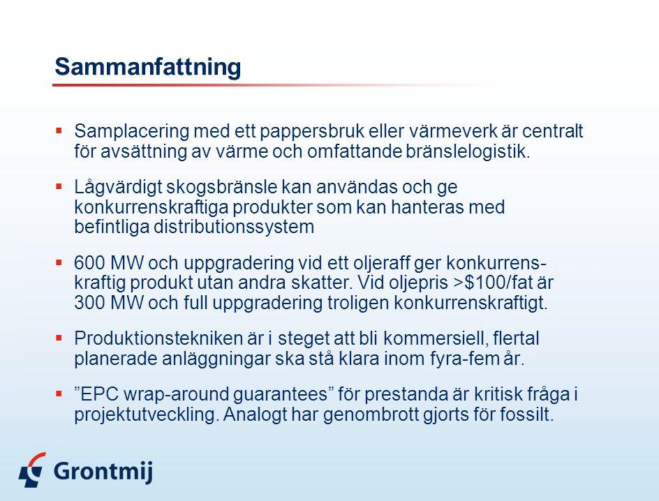 Sammanfattning  Samplacering med ett pappersbruk eller värmeverk är centralt för avsättning av värme och omfattande bränslelogistik.