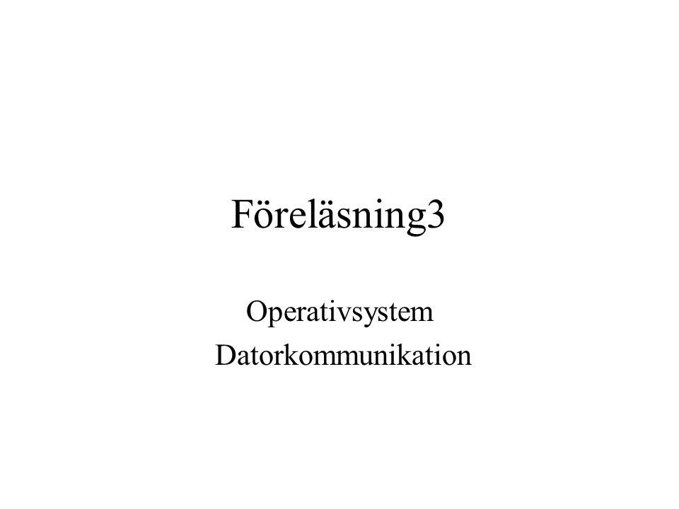 Föreläsning3 Operativsystem Datorkommunikation