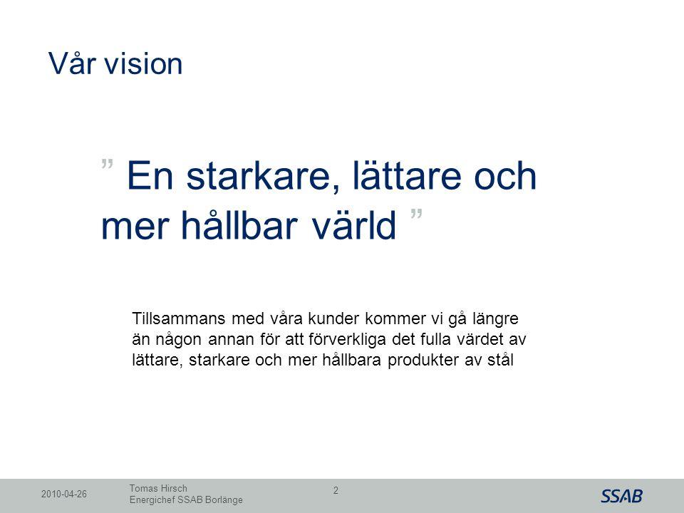 """Grid Vår vision """" En starkare, lättare och mer hållbar värld """" Tillsammans med våra kunder kommer vi gå längre än någon annan för att förverkliga det"""