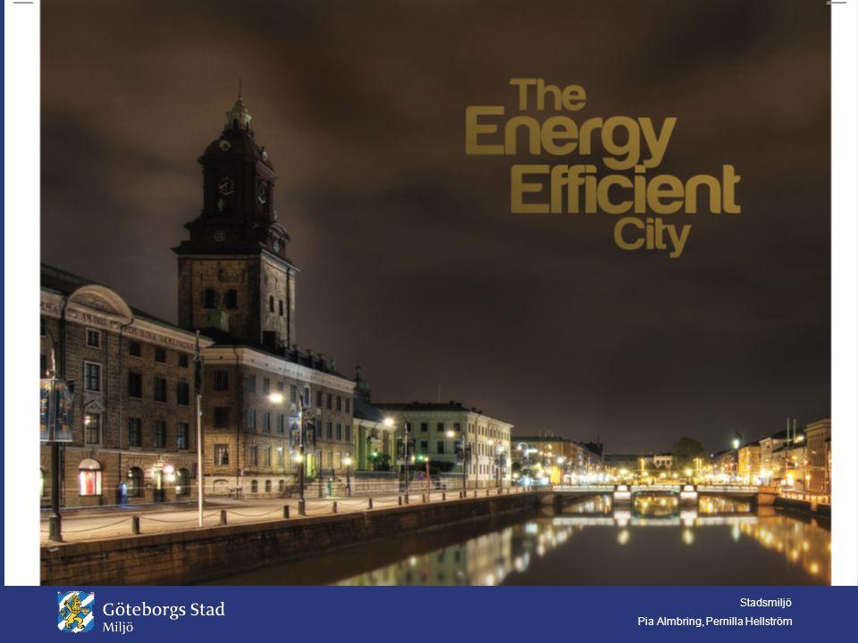 Stadsmiljö Pia Almbring, Pernilla Hellström Strategi för energieffektivisering - EES Göteborgs Stad har fått stöd från Energimyndigheten för att arbeta med energieffektivisering mellan 2010 till 2014.