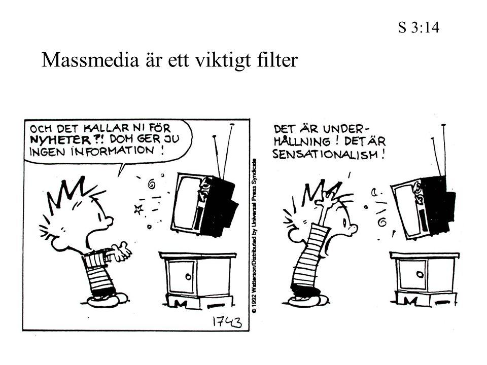 Massmedia är ett viktigt filter S 3:14