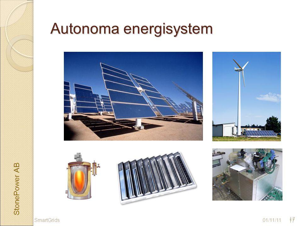 StonePower AB 17 Autonoma energisystem 01/11/11 17 SmartGrids