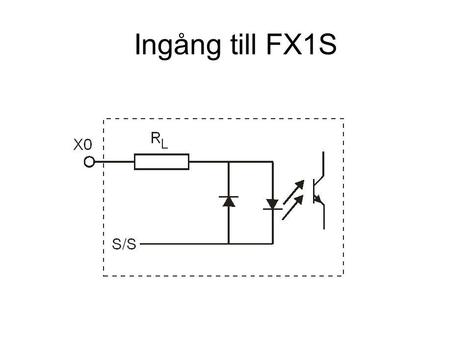 Ingångar X0-X7 på FX1S-14MT-DSS