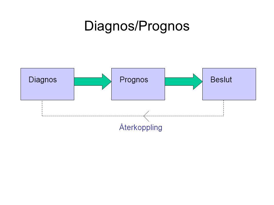 Diagnos/Prognos DiagnosPrognosBeslut Återkoppling