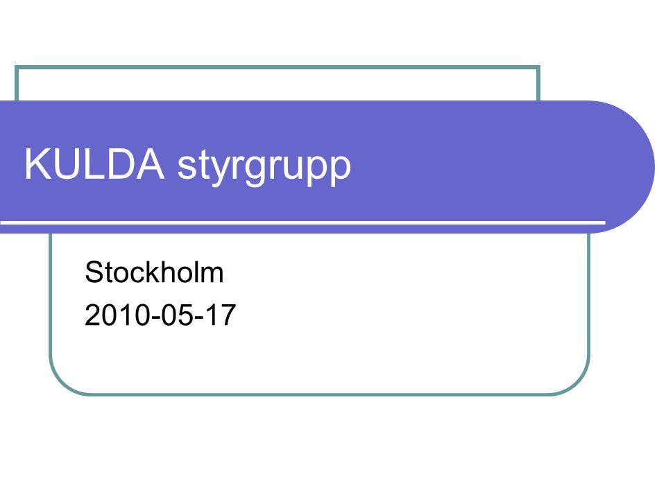 KULDA styrgrupp Stockholm 2010-05-17