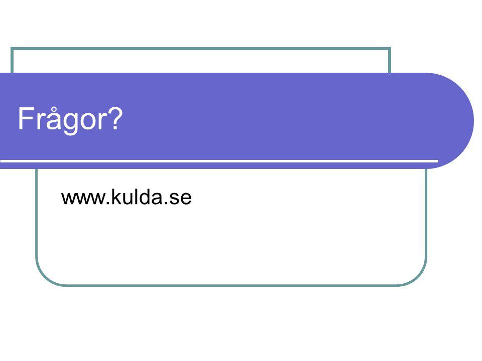 Frågor www.kulda.se