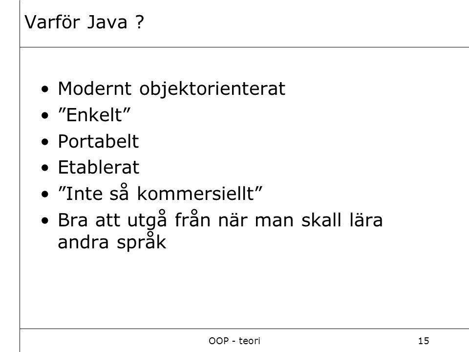 OOP - teori15 Varför Java .