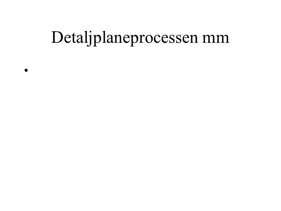 Detaljplaneprocessen mm