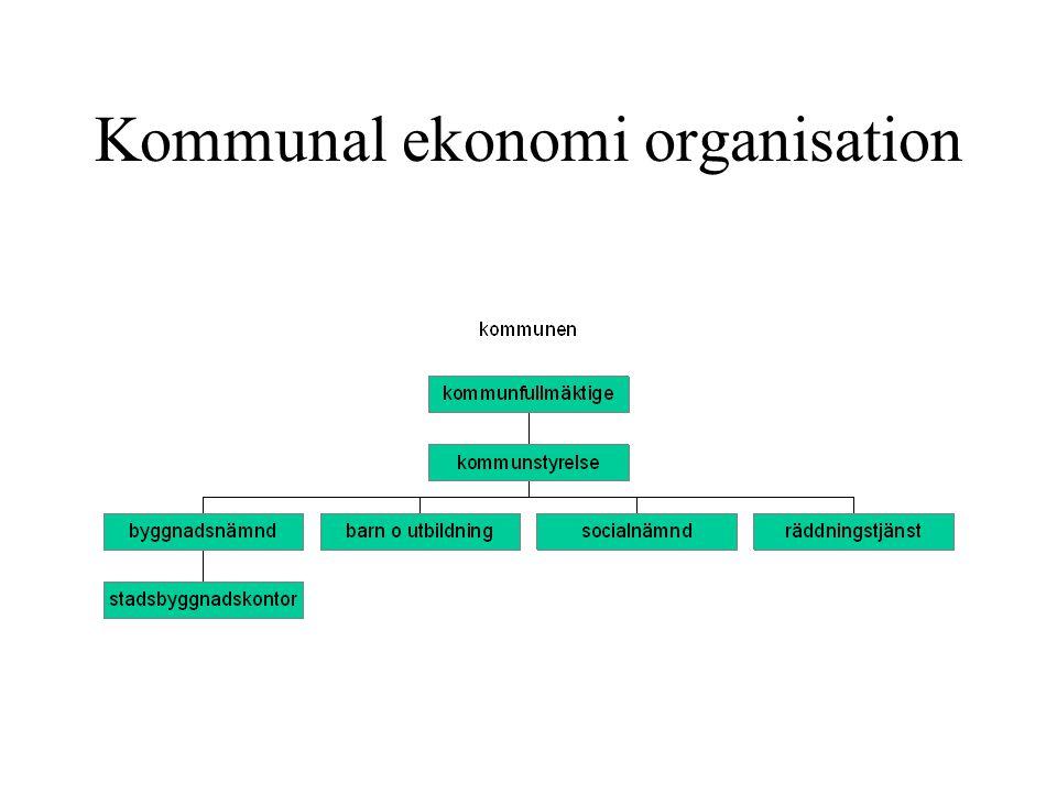 Kommunal ekonomi organisation
