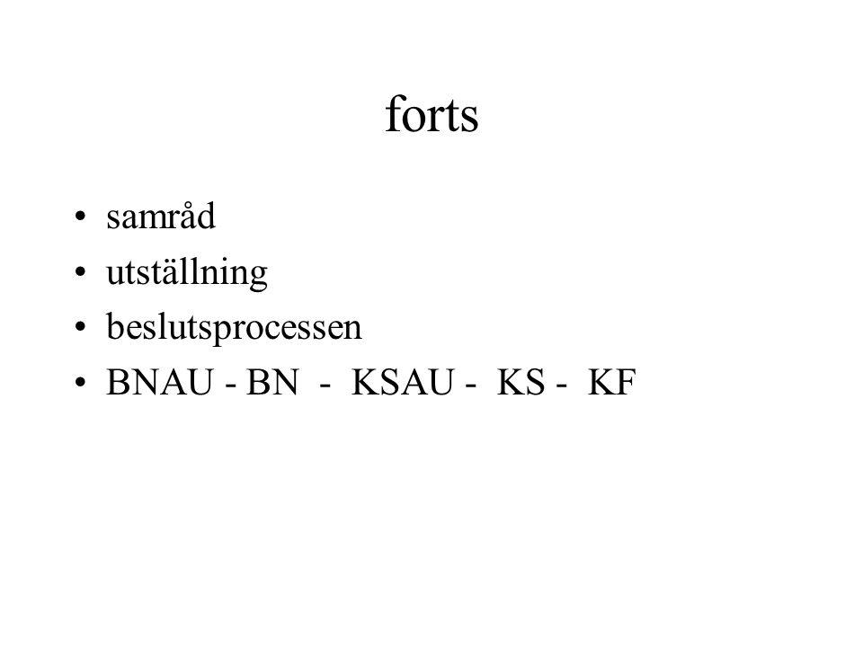 forts samråd utställning beslutsprocessen BNAU - BN - KSAU - KS - KF