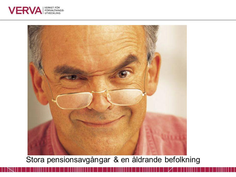Stora pensionsavgångar & en åldrande befolkning