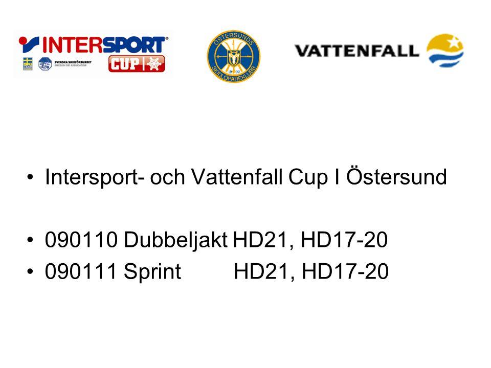 Intersport- och Vattenfall Cup I Östersund 090110 Dubbeljakt HD21, HD17-20 090111 SprintHD21, HD17-20