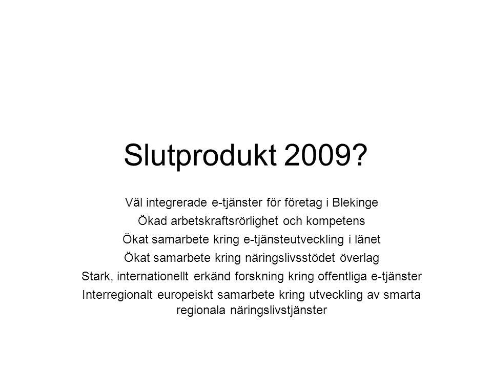 Slutprodukt 2009.