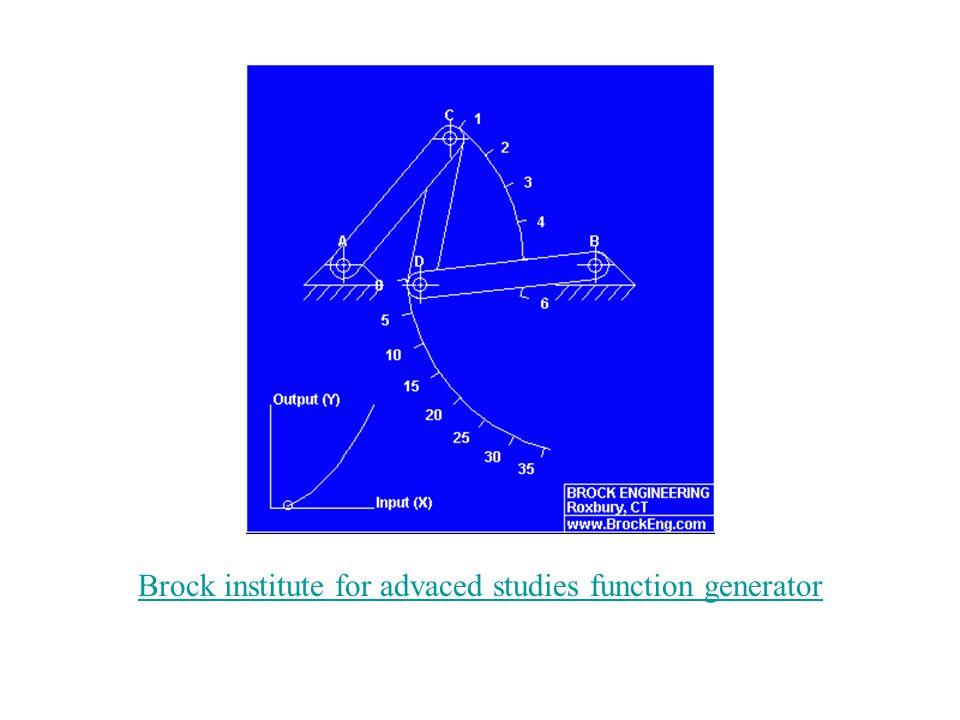 Brock institute for advaced studies function generator