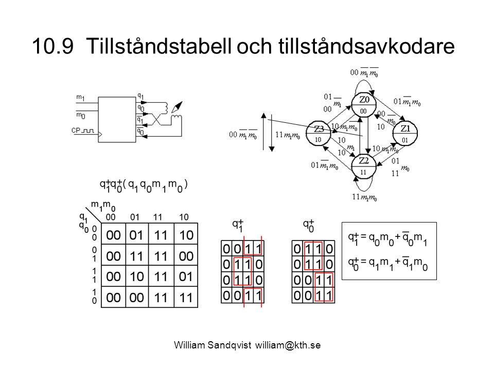 10.9 Tillståndstabell och tillståndsavkodare William Sandqvist william@kth.se
