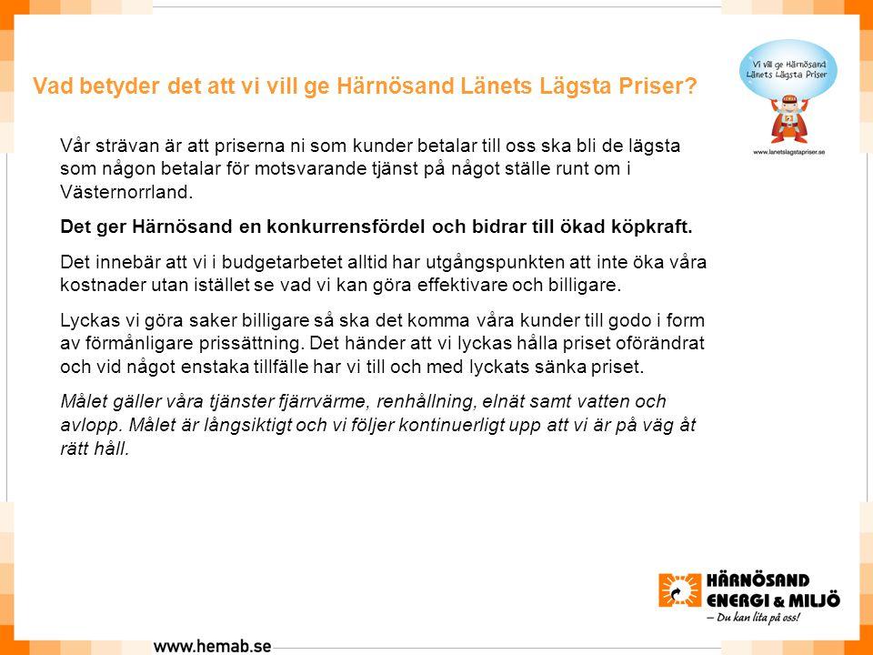 Vad betyder det att vi vill ge Härnösand Länets Lägsta Priser.