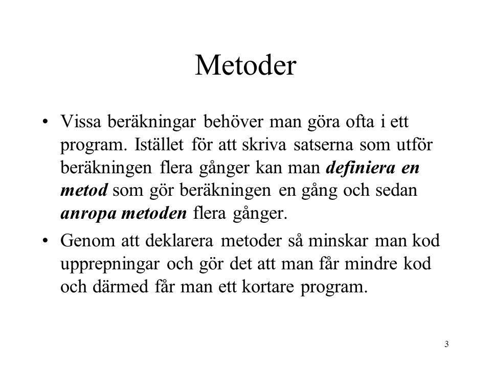 14 main Program m1() m2() m3()
