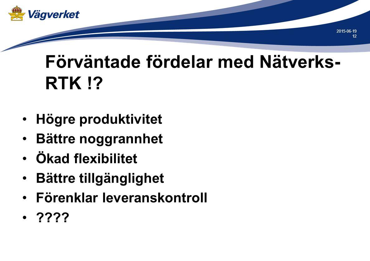 12 2015-06-19 Förväntade fördelar med Nätverks- RTK !.