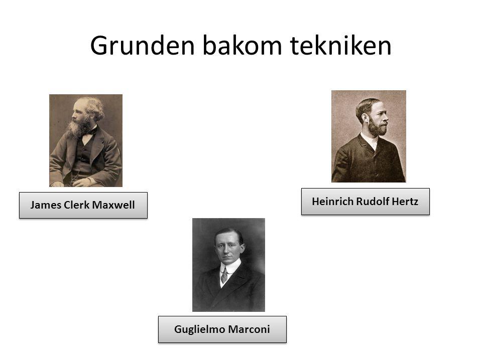 Grunden bakom tekniken James Clerk Maxwell Heinrich Rudolf Hertz Guglielmo Marconi