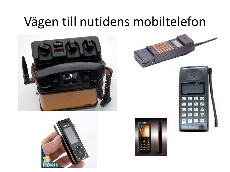Vägen till nutidens mobiltelefon