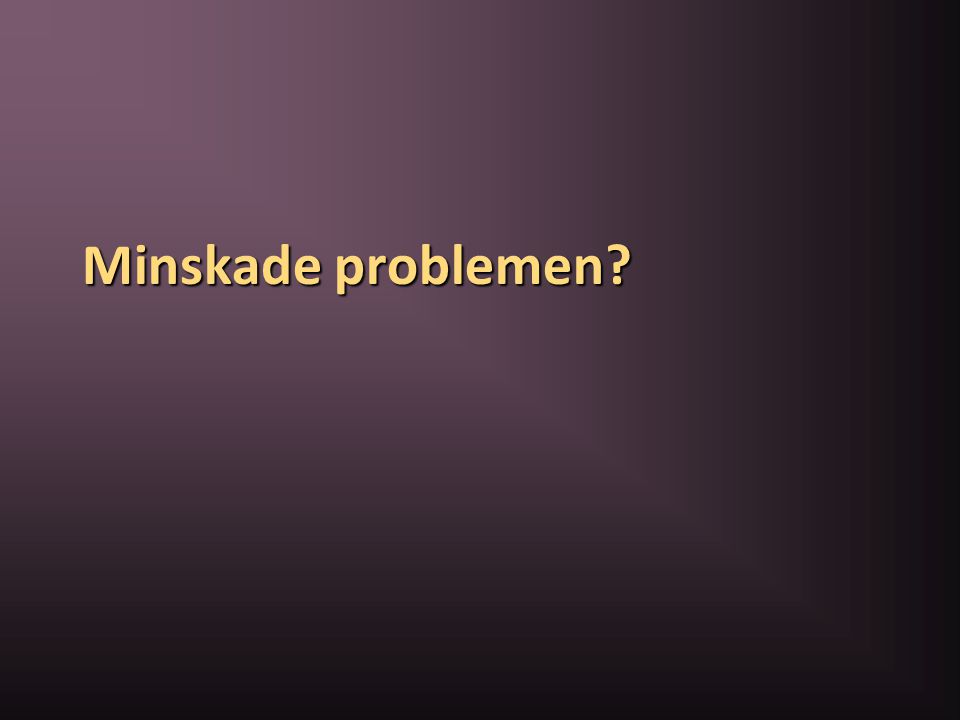Minskade problemen?