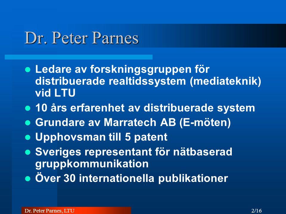 2/16 Dr. Peter Parnes, LTU Dr.