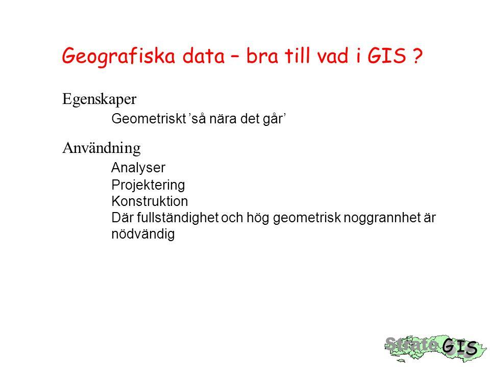 Geografiska data – bra till vad i GIS .