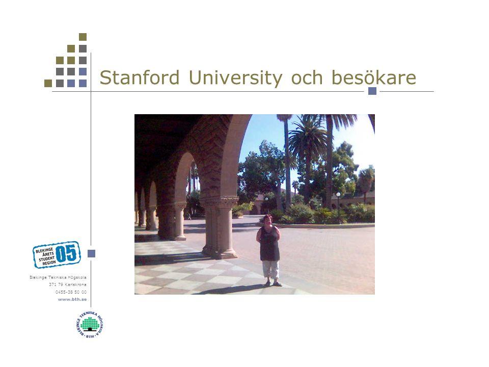 Blekinge Tekniska Högskola 371 79 Karlskrona 0455-38 50 00 www.bth.se Stanford University och besökare
