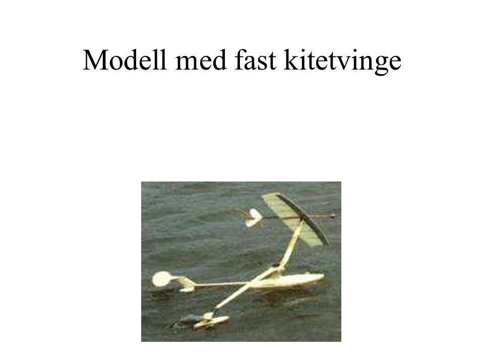 Modell med fast kitetvinge