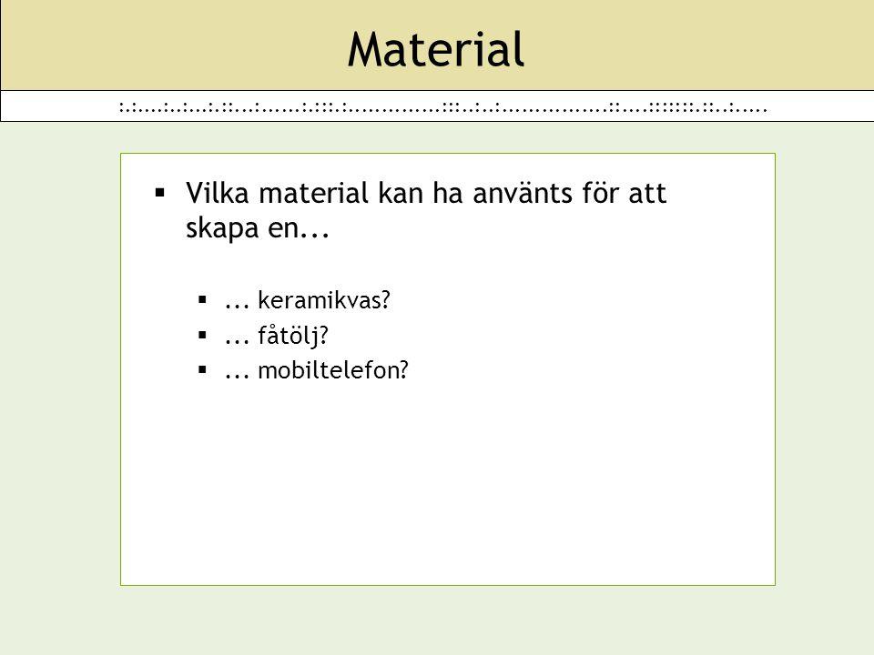:.:....:..:...:.::...:......:.:::.:..............:::..:..:................::....:::::::.::..:..... Material  Vilka material kan ha använts för att sk