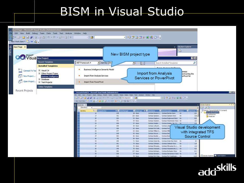 BISM in Visual Studio