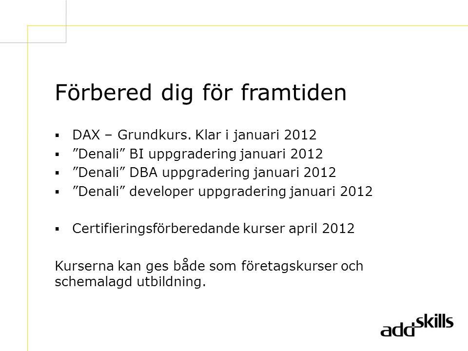 Förbered dig för framtiden  DAX – Grundkurs.