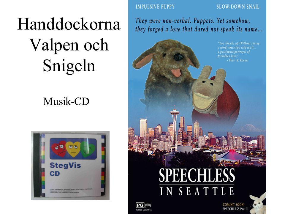 Handdockorna Valpen och Snigeln Musik-CD