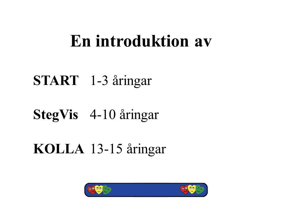 En introduktion av START1-3 åringar StegVis4-10 åringar KOLLA13-15 åringar