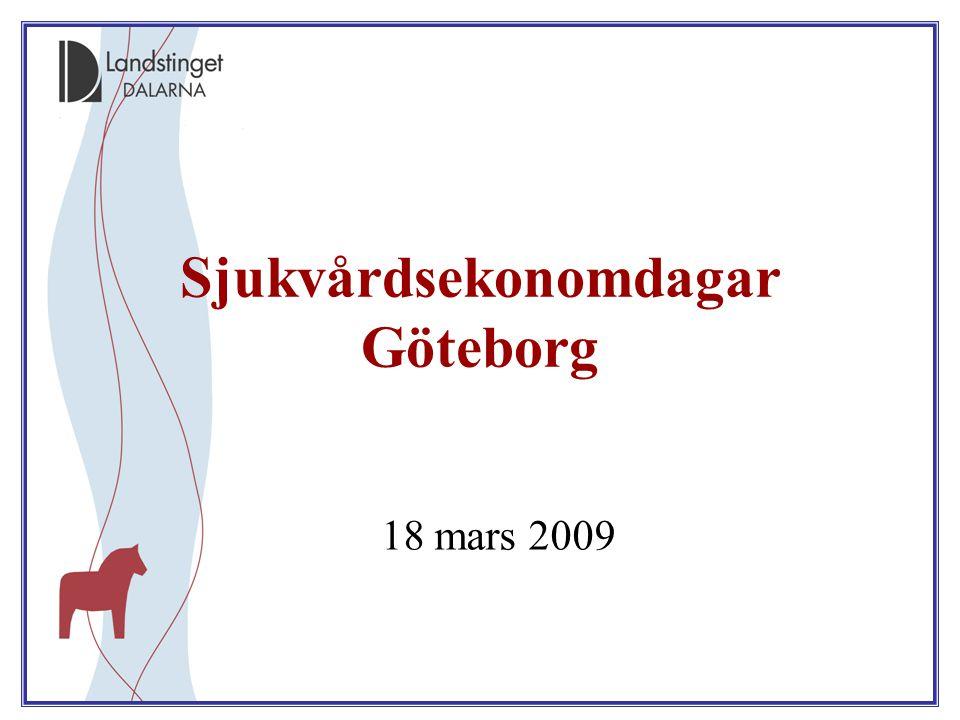Sjukvårdsekonomdagar Göteborg 18 mars 2009